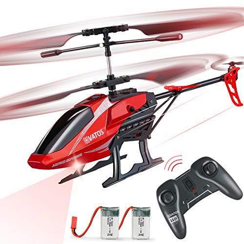 VATOS Hubschrauber Ferngesteuert RC Helikopter: Höhenlage Hobby Flugzeug mit 2 Batterien Kreisel & LED Licht...