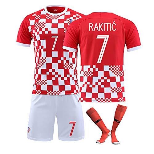 YLHLZZ Fußball Trikot Kroatien Nationalmannschaft für Modric 10# Rakitić 7# Mandzukic 17# Saisonanzug...