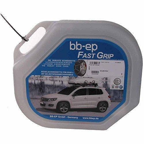 BB-EP Fast-Grip 9-225/45-17 - Feingliedrige Schneekette 9mm mit Selbstspann-Mechanismus für die Reifengröße...