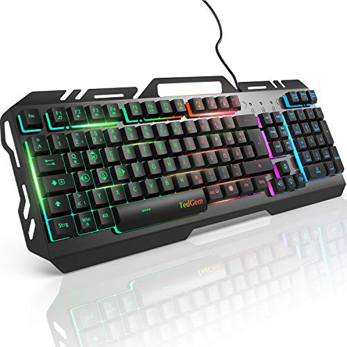 Gaming Tastatur, TedGem PC Gaming Tastatur PS4 Gaming Tastatur USB Wired Gaming Tastatur 19 Schlüssel...