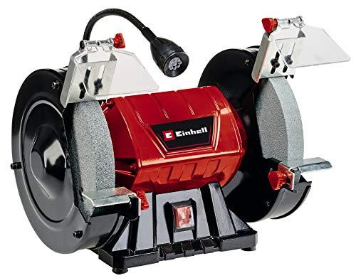 Einhell Doppelschleifer TC-BG 200 L (max. 400 W, Ø200xø32x25 mm Schleifscheibe, biegbares Licht, große +...