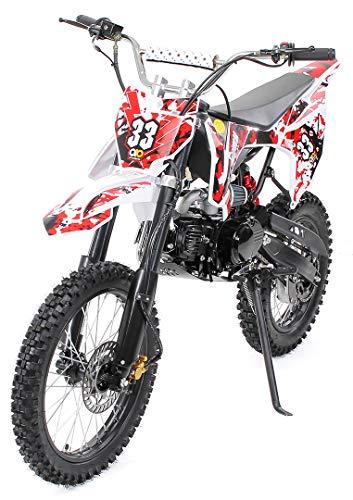 Kinder Jugend Crossbike Enduro Motocrossbike 125cc 4Takt Motocross Motorrad Cross 84cm Sitzhöhe für...