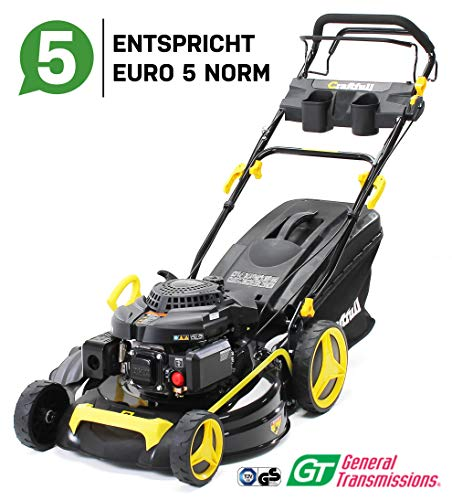 Craftfull Premium Benzin Rasenmäher 5in1 - Euro 5-4,4 Kw 6 Ps - 196 ccm 4-Takt Motor - GT Markengetriebe - 53...