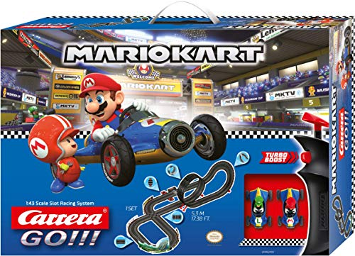 Carrera GO!!! Nintendo Mario Kart Mach 8 Rennstrecken-Set   5,3m elektrische Carrerabahn mit Mario & Luigi...