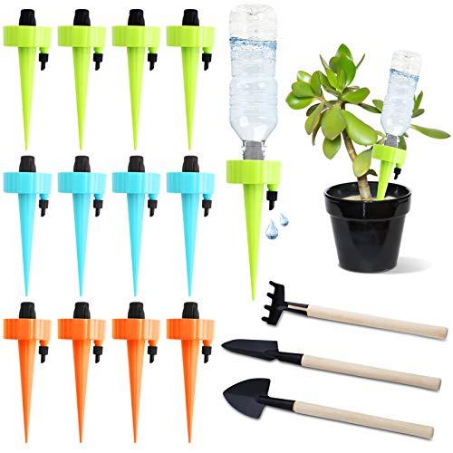 Herefun 15 Stück Automatisch Bewässerung Set, Garten Pflanzen Blumen Automatisch Bewässerung, Einstellbar...