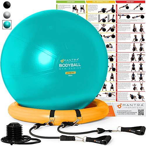 Gymnastikball, Pilates Ball, Sitzball Büro - 55cm / 65cm / 75cm Geburtsball für Schwangerschaft, Balance,...