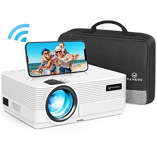 WiFi Beamer 4500 Lux, VANKYO Leisure 470 Wireless Beamer, Support 1080P Full HD Heimkino Beamer WLAN,...