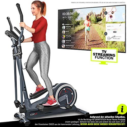 Sportstech Crosstrainer für zuhause | Deutsche Qualitätsmarke | Video Events & Multiplayer APP & Display |...