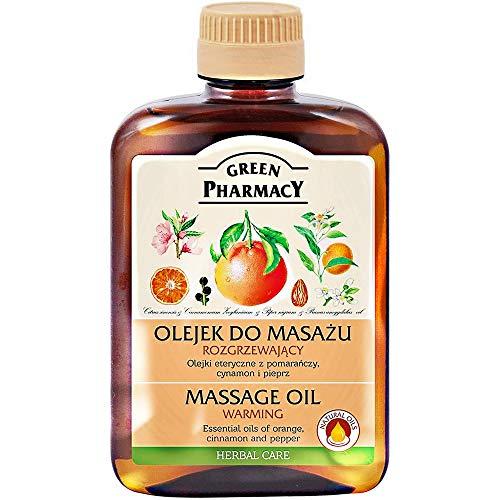 Green Pharmacy Massageöl wärmendes Körpermassageöl Orangenzimt und Pfeffer 200 ml