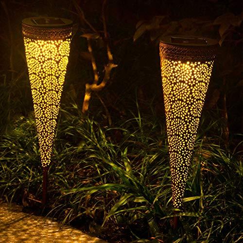 Qomolo Solar Gartenleuchte Solarlampe für Außen LED IP65 Wasserdicht, Gartenleuchte Licht Solarlicht,...