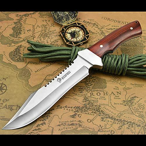 NedFoss Fahrtenmesser Rambo Messer| Survival Messer Camping Jagdmesser|Outdoormesser Gürtelmesser...