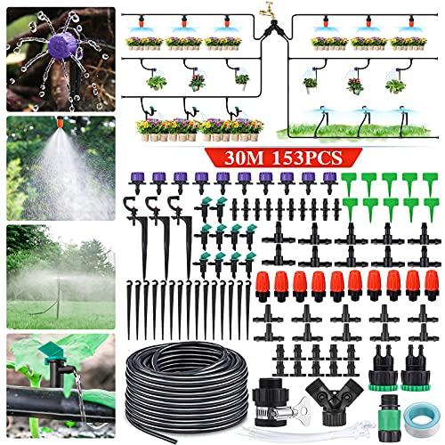 king do way 29m Bewässerungssystem Garten, 153Pcs Bewässerung Kit, Mikro Drip Bewässerungssets,...