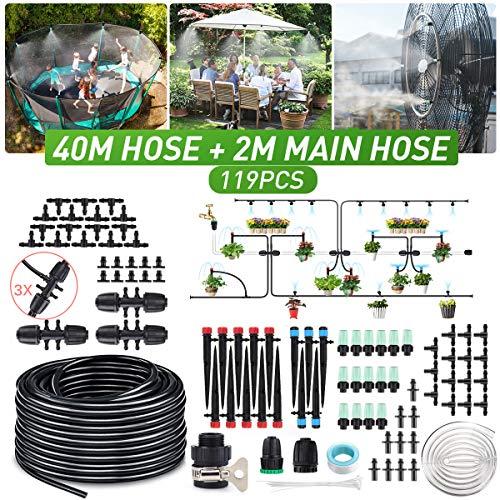 king do way 40m Bewässerungssystem Garten, 119Pcs Bewässerung Kit, Mikro Drip Bewässerungssets,...