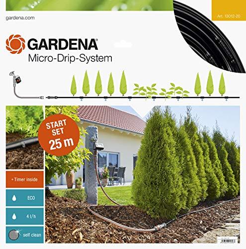 Gardena Start Set Pflanzreihen M automatic: Micro-Drip-System zur schonenden, wassersparenden...