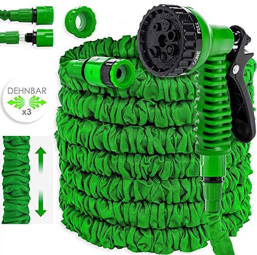 KESSER® Gartenschlauch 45m Flexibler Basic Wasserschlauch Flexible dehnbarer Flexischlauch...