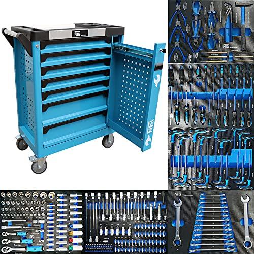 Werkzeugwagen Werkstattwagen Werkzeugkasten Werkzeugkiste + Werkzeug m. Schaumeinlagen