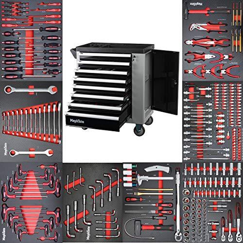Werkzeugwagen Werkstattwagen mit 8 Schubladen davon 8 mit Werkzeug wie Schraubenschlüssel, Ratsche mit...