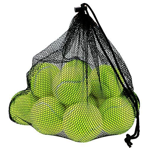Philonext 12 Stück Tennisbälle mit Mesh Tragetasche Tennisbälle fürs Training, Tennis übungs Ball mit...