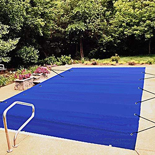 VEVOR Pool Abdeckplane Rechteckig 4 x 8 m Schwimmbadabdeckung Blau PVC-Material Poolabdeckung wasserdicht...