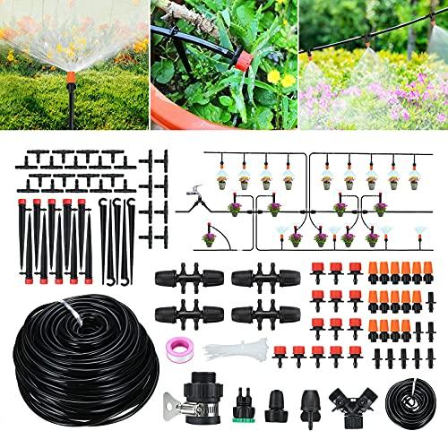 Tvird Bewässerungssystem Garten 45m Micro Drip Bewässerung Kit Gartenbewässerung Automatikche...