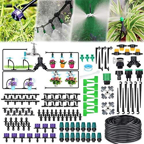 Jeteven 40M Bewässerungssystem Garten,163Pcs Mikro Drip Bewässerungssets, Automatik Tröpfchenbewässerung...