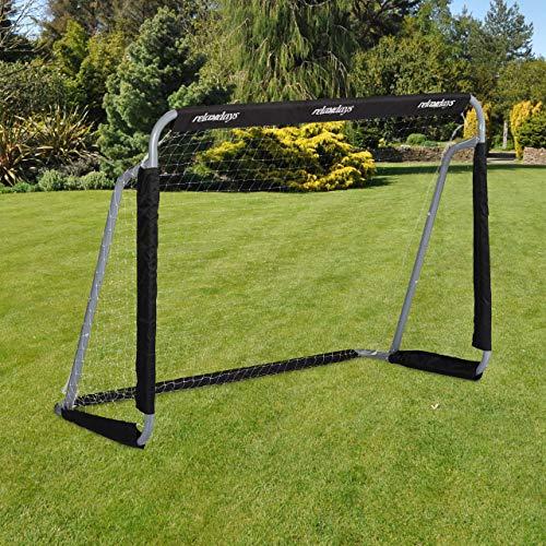 Relaxdays Fußballtor, Profi Soccertor für Kinder & Erwachsene, mit Tornetz, für Garten, HBT 110x150x75cm,...