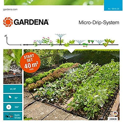 Gardena Start Set Pflanzflächen: Micro-Drip-Gartenbewässerungssystem zur individuellen, flexiblen...