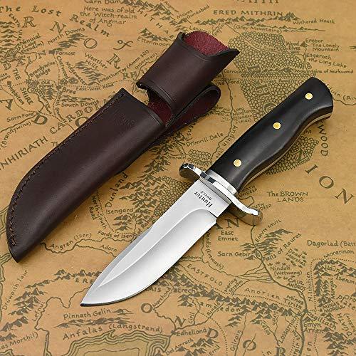 NedFoss Jagdmesser scharf Hunter, Survival Messer für Outdoor, Scharfer D2 Messer mit Exquisite Ledertasche,...