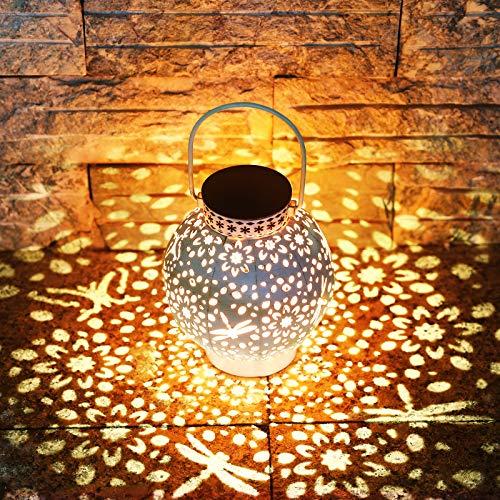 KOOPER LED Solar laterne für Außen, Vintage Metall Solarlampen für Außen Warmweiß, IP65 Wasserdicht...