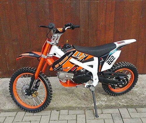 125ccm Dirtbike Pitbike 4 Takt 4 Gang Manuell 17/14 Zoll Orange 125cc Motor Enduro Cross Bike Motocross...