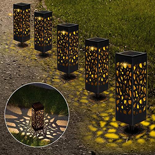 【6 Stück 】Solarleuchten Garten, Solar Gartenleuchte IP65 Wasserdichte, Solarlampen für Garten...