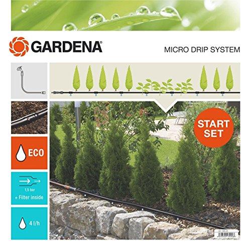Gardena Start Set Pflanzreihen M: Micro-Drip-Gartenbewässerungssystem zur schonenden, wassersparenden...