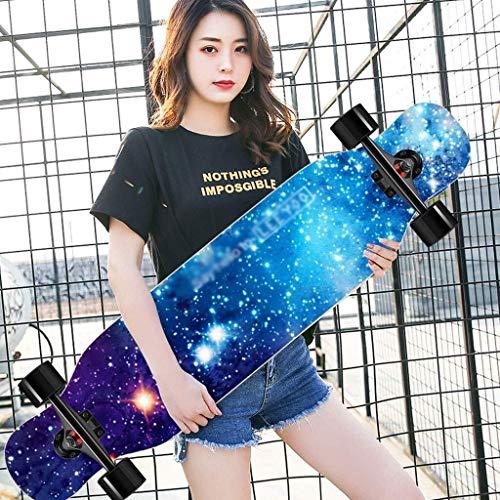 ZXCMNB Roller Ahorn Longboard Junge Mädchen Pinsel Street Dance Board Anfänger Erwachsene Teen Allrad...