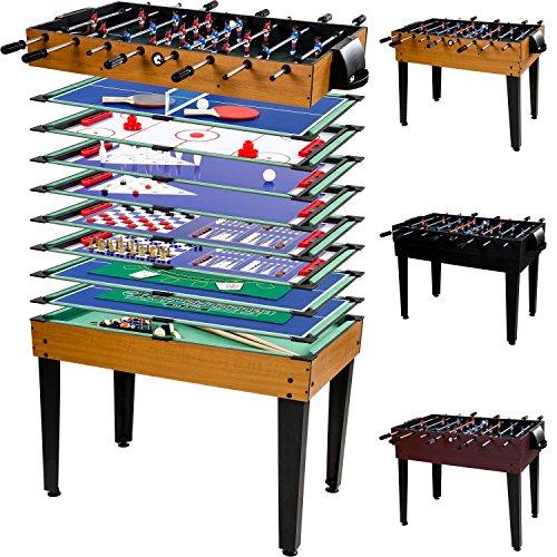 Maxstore Multigame Spieletisch Mega 15 in 1, inkl. komplettem Zubehr, Spieltisch mit Kickertisch,...