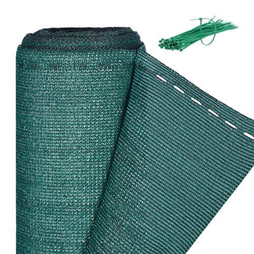 Relaxdays, grün Zaunblende, Sichtschutz für Zaun & Balkongeländer, HDPE Gewebe, UV-stabilisiert,...