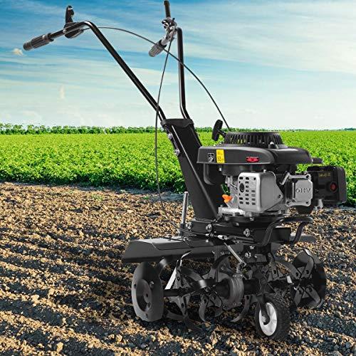 BRAST Benzin Ackerfräse 4,4kW(6PS) Radantrieb Motorhacke Gartenfräse Bodenfräse Kultivator 2 Arbeitsbreiten...