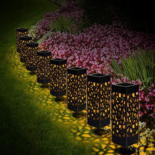 Solarleuchte Garten, 8 Stück LED Solarlampe Gartenleuchte Bahn Lichter Außenleuchte Wasserdicht IP65...