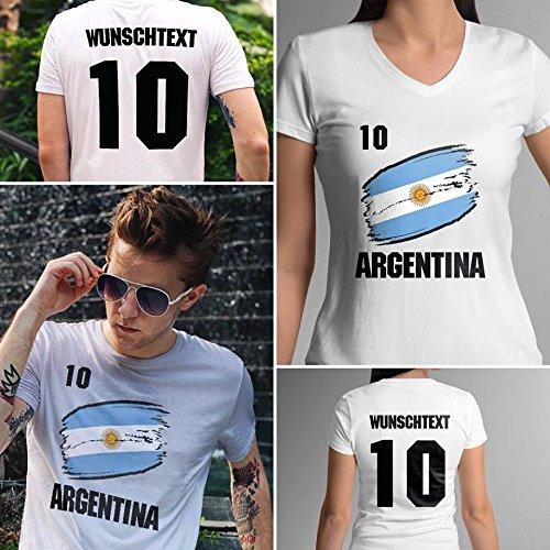 Argentina   Argentinien   Männer oder Frauen Trikot T - Shirt mit Wunsch Nummer + Wunsch Name   WM 2018...