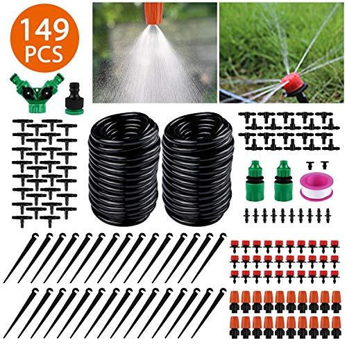 Emooqi Bewässerung Kit 149 Pcs Garten Bewässerungssystem DIY Micro Automatische Gewächshaus Sprinkler...