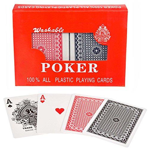 GOODS+GADGETS Royal 100% Plastik Poker-Karten Kunststoff-Karten Spielkarten Doppel-Deck Set
