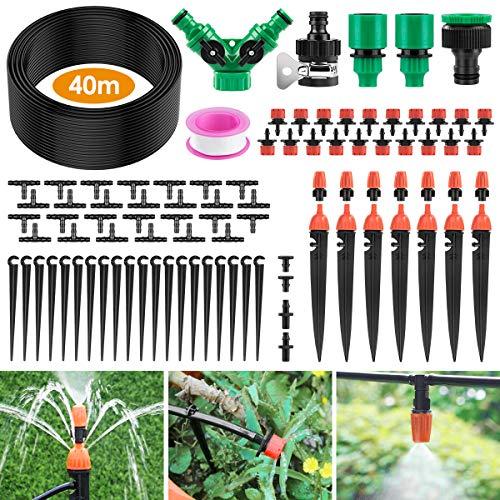 Ehomfy Automatisches Bewässerungssystem, 40 m Gartenbewässerungssystem, Mikro-Tropfbewässerungsset mit...