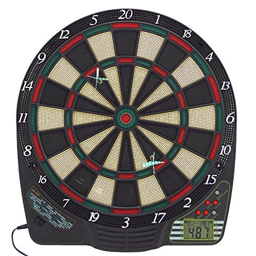 Best Sporting elektronische Dartscheibe, Dartboard mit LCD, 6 Dartpfeilen + Ersatzspitzen, Dartautomat mit...