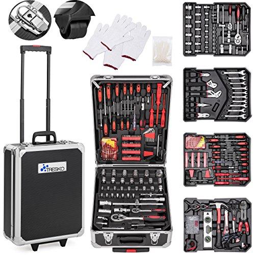 TRESKO® Werkzeugkoffer 949 teilig | Werkzeugkasten | Werkzeugkiste | Werkzeugtasche | Werkzeug Set |...
