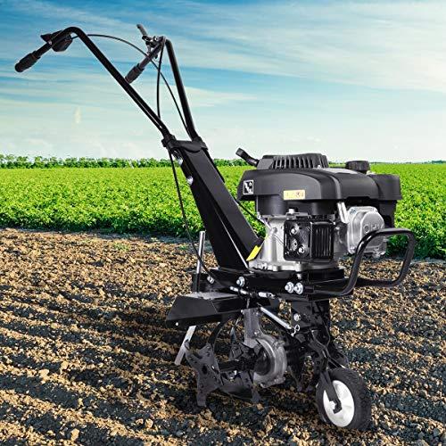 BRAST Benzin Ackerfräse 3,7kW (5PS) Arbeitsbreiten 36cm Radantrieb Motorhacke Gartenfräse Bodenfräse...