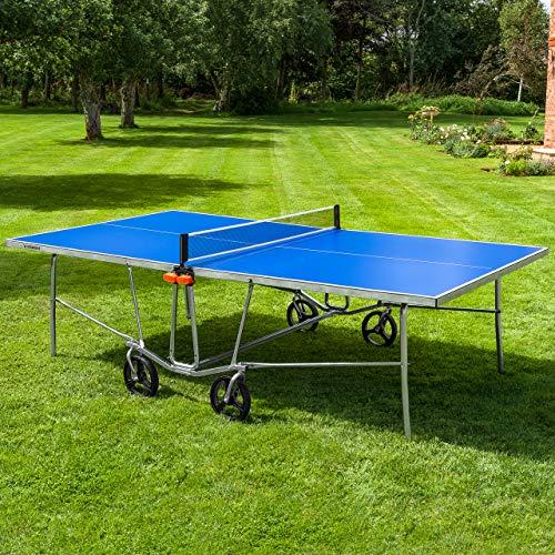 Vermont TS100 Tischtennis-Tisch für den Innen- und Außenbereich - EIN Blauer PingPong Tisch in 4 Optionen...