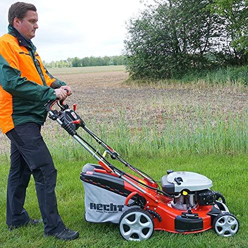 HECHT 5IN1 Benzin Rasenmäher – Leistungsstarker 4 Takt Motor mit 3,6 kW, Elektrostart, 51 cm Schnittbreite,...