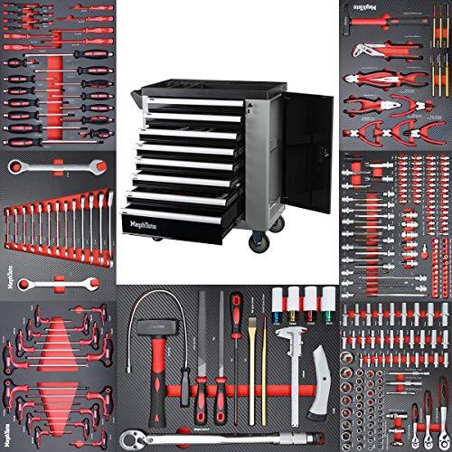Werkzeugwagen Werkstattwagen mit 8 Schubladen davon 7 mit Werkzeug wie Schraubenschlüssel, Ratsche mit...
