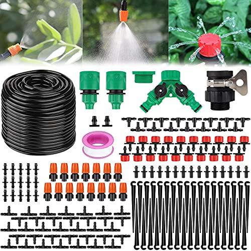 SaiXuan 40m Bewässerungssystem Garten,Bewässerung Kit 158Pcs Garten DIY Micro Automatische Gewächshaus...