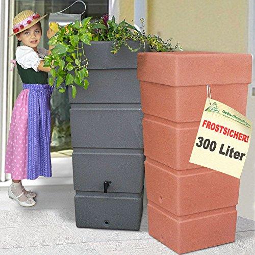 AMUR Regentonne Regenfass Ecktonne Regenspeicher Regenwasserbehälter FROSTSICHER - Moderne...