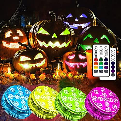 Joycome Unterwasser Licht, Halloween-Lichter 13 RGB LED Badewanne Licht, IP68 Wasserdicht Teichbeleuchtung mit...